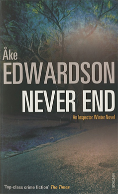 Never End by Ake Edwardson, crime fiction book