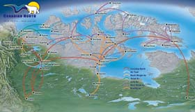 Canadian North routes