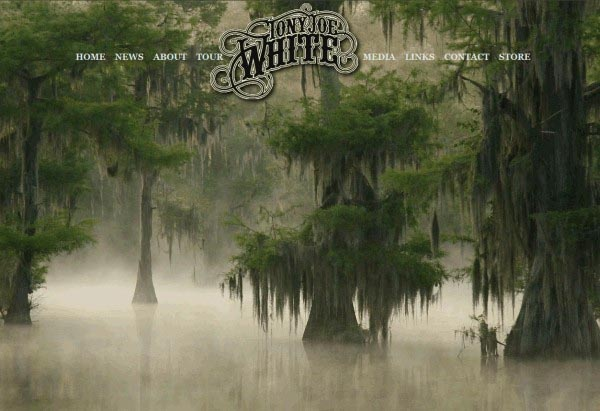 Tony Joe White, website of the Swamp Fox