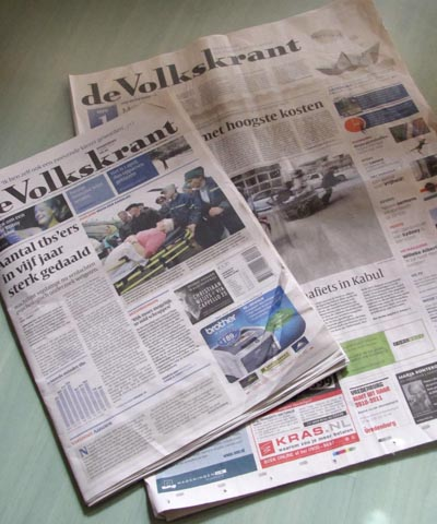 Volkskrant now tabloid size